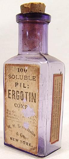 ergotincannabisstrychnine bottle