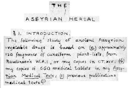 The Asyrian Herbal by ...
